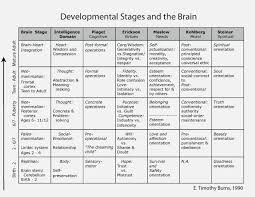 Physical Development Stages Chart Developmental Stages And The Brain Birth Through Adult