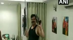 Caught On Camera Bjp Mla Dances To Bollywood Song Brandishing Guns