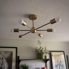 mid century ceiling lights amazing brass sputnik chandelier 18 arms modern pendant lamp pertaining to 22