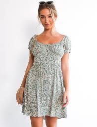 Sammi Dress Mint Daisy