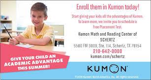 Kumon Math And Reading Kumon Math And Reading Of Schertz Local Community News