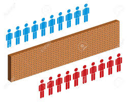 separate people. wall separating people, red and blue group of people stock vector - 26492830 separate r