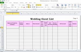 Sample Wedding Guest List Spreadsheet Lovely How To Make Your ...