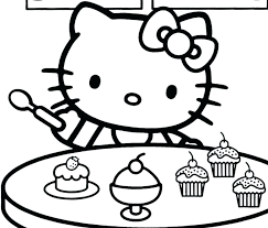 Coloring Free Hello Kitty Coloring Pages For Printable Cartoons