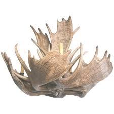 fantastic eight light moose antler chandelier for at 1stdibs inside moose antler chandelier gallery