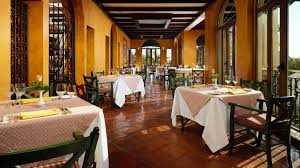 Stagioni Restaurant Interior with tables set and ready for service