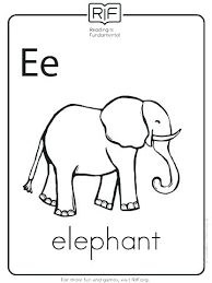 E Is For Elephant Coloring Page Elephant Coloring Pages For