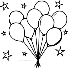 Coloring Pages Happy Birthday Balloons Coloring Pages
