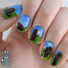 Island Nail Art Designs Easter Island Nail Art Nailzini A Nail Art Blog