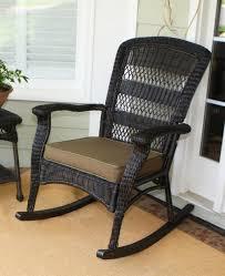 black wicker rocking chair.  Wicker Marvelous Portside Plantation Rocking Chair Dark Roast Wicker Black  Outdoor Inside A