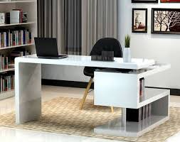 ... Sleek Desk Stunning Idea Modern Office Desk For Home Sleek White With  Bookcase ...