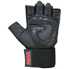 wrist wrap view weight lifting gloves amara leather front view