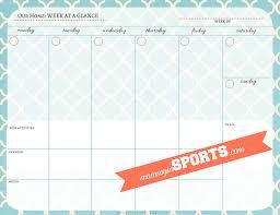 Week At A Glance Calendar Template Weekly Printable Calendar Template 1024x791 1 Png Kristen