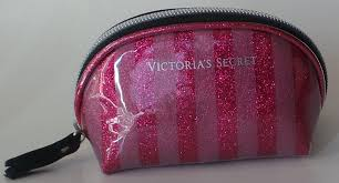 victoria s secret coin purse cosmetic bag for very small items pink striped size 4 5