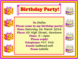 Birthday Party Invitation Birthday Party Invitation Learnenglish Kids British Council