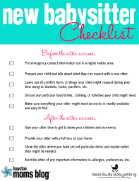 Five Things Your New Babysitter Wishes Youd Do