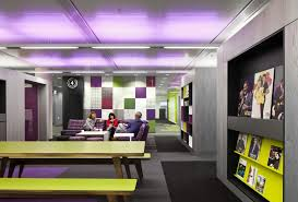 Colorful office space interior design Furniture Breathtaking Creative And Colorful Bbc North Office Awesome Vibrant Color Of Shared Spaces And Stevenwardhaircom Interior Design Stunning Meeting Room Interior Design Of Bbc North