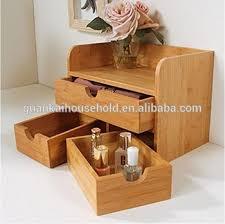 makeup organizer wood. bamboo desktop organizer 3-tier mini desk makeup with drawers wood o