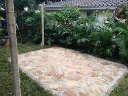 add outdoor living space with a diy paver patio diy stone path diy stone walkway