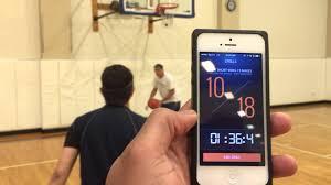 Basketball Tracker Vasu Kulkarni Basketball Workout Using Shot Tracker Youtube