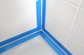 view in gallery painter s tape adds precision to the caulking process