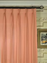 pinch pleat sheer curtains. QYK246SEK Eos Linen Red Pink Solid Triple Pinch Pleat Sheer Curtains (Color: Light Coral I