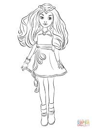 Free Printable Coloring Pages Disney Descendants With Selected