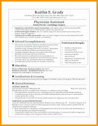 Physician Assistant Resume Template Classy Cardiology Physician Assistant Resume Samples Best Of 28 Free