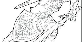 Legend Of Printable Coloring Pages The Zelda Link Jordanschleiderinfo