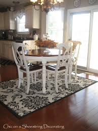 Rug For Kitchen Table And Round Rugs Under The Gallery Picture - Dining room rug round table