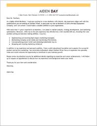 Cover Letter For Marketing Job Example Cover Letter Resume