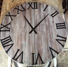 diy oversized wall clock made from a