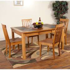 oak dining table and chairs. Sedona Slate Top Dining Table \u0026 Chairs In Rustic Oak And O