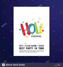 Web Design Sample Text Happy Holi Festival White Brochure Having Creative And
