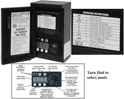 8100 series manual instructions large image of dawn dusk instructions printed on face of timer