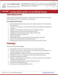 Restaurant Survey Restaurant Survey System With Location Based Technology