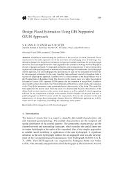 Design Flood Estimation Pdf Design Flood Estimation Using Gis Supported Giuhapproach