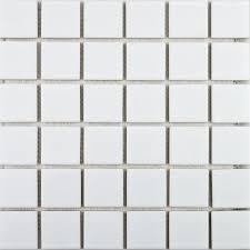 zoro mosaic tiles gloss white square large tiles