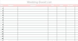 Printable Wedding Guest List Organizer Wedding Guest Template