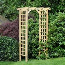 Small Picture New Timber Wooden Trellis Garden Arch Archway Wood and DIY