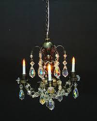 dolls house real crystal chandelier 3 arm nostalgic yl7002 1