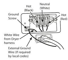 cord and plug white wire when changing from prong to on kenmore electric dryer installation manual this time showing a white bonding wire enter image description here
