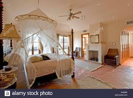 Spanish Bedroom Furniture Mosquito Net Above Bed In Modern Spanish Bedroom With Traditional