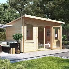 outside office shed. BillyOh Fraya Pent Log Cabin Outside Office Shed