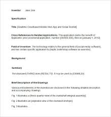 Patent Application Template 12 Free Word Pdf Documents