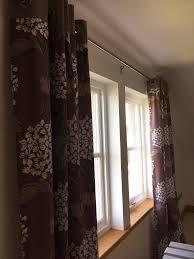 next lined eyelet curtains 53x91ins purple hydrangea pattern