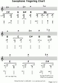 Baritone Saxophone Altissimo Finger Chart Bari Sax