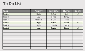 How To Create To Do List In Excel With Free Templates