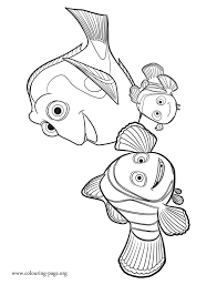 Small Picture Finding Dory Marlin Nemo and Dory coloring page