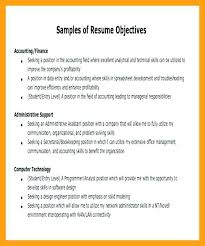objectives for jobs accountant objective for resume sample career objective in resume